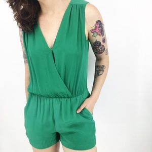 Parker : 'North' Surplice Silk Romper Size XS